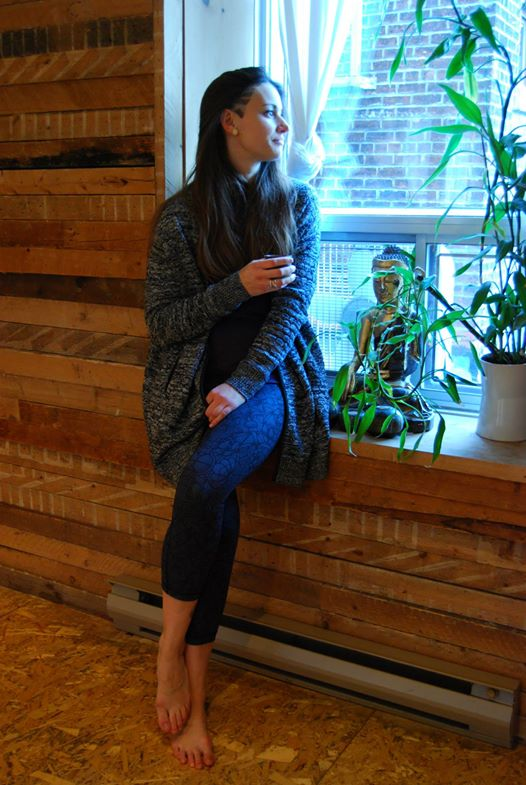 Lululemon marled black cardi all day