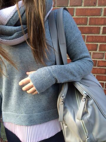 Lululemon heathered medium grey yogi crew sweater