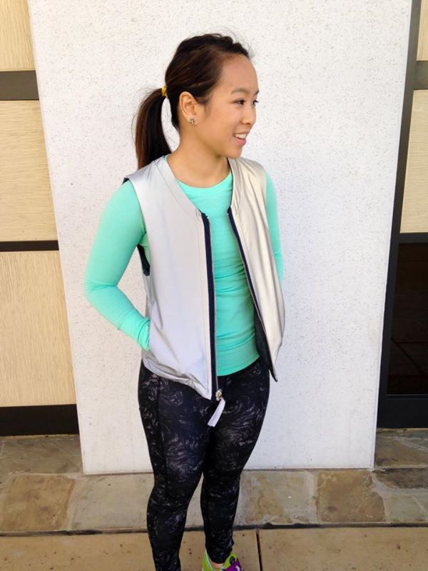 Lululemon light and bright reflective reversible vest
