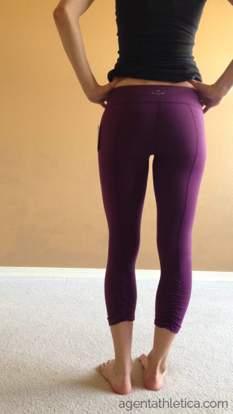 7b6877a503bbf7 Review: Beyond Yoga Back Gathered Leggings in Wild Plum - Agent ...