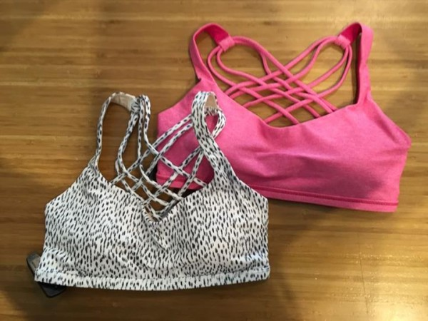 Lululemon dottie dash heathered jeweled magenta free to be wild bras