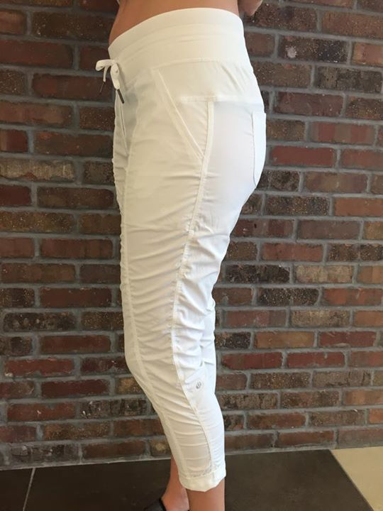 Lululemon white street to studio pants