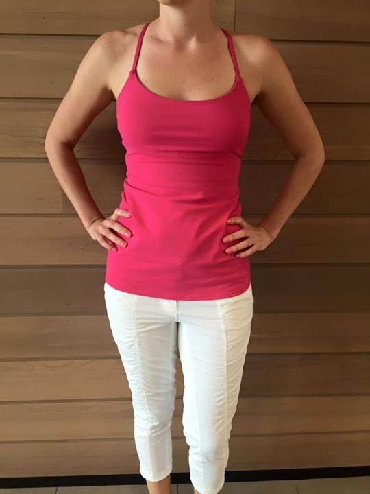 Lululemon jeweled magenta dancing warrior tank