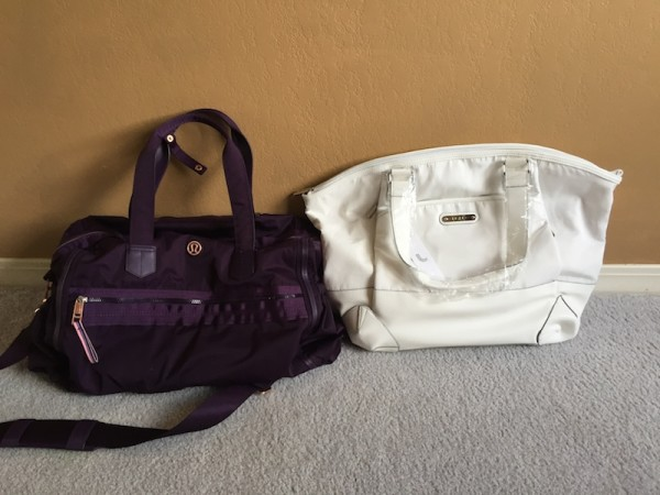 Lole haanji bag white review size comparison