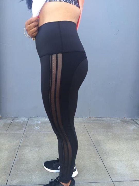 Lululemon mesh side luxtreme rolldown wunder under pants black