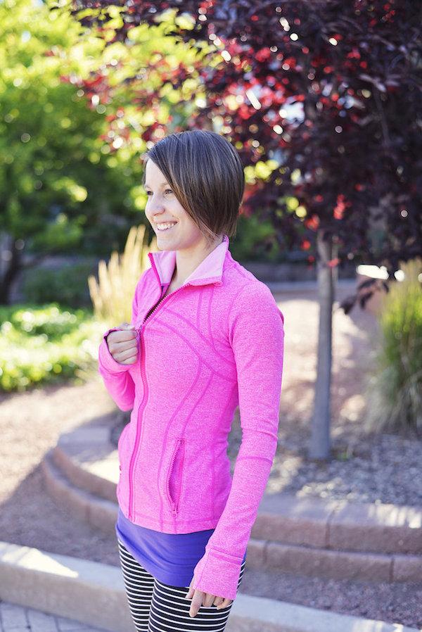 Lululemon heathered paris pink define jacket