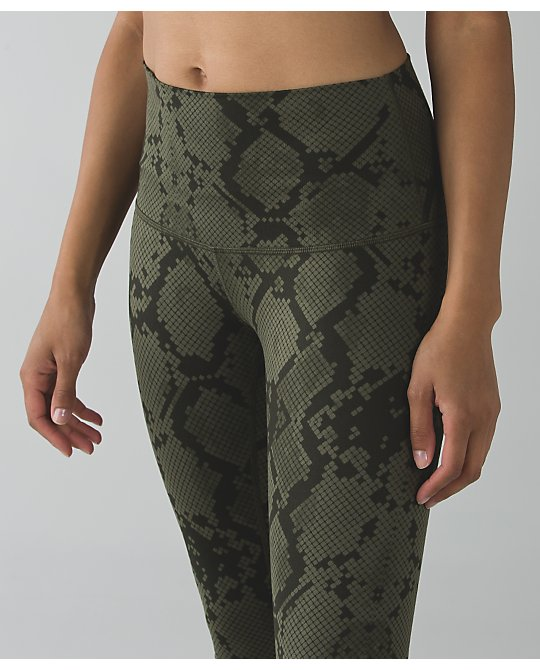 a73172e51 Lululemon ziggy snake fatigue green wunder under pants high rise - Agent  Athletica