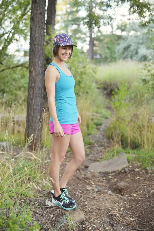 Lululemon surge cool racerback heathered paris pink speed shorts 2