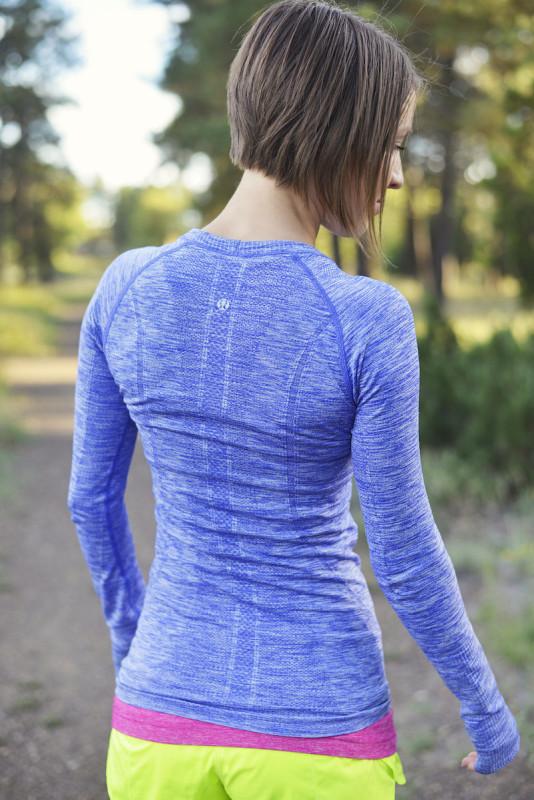 Lululemon pigment blue space dye swiftly long sleeve