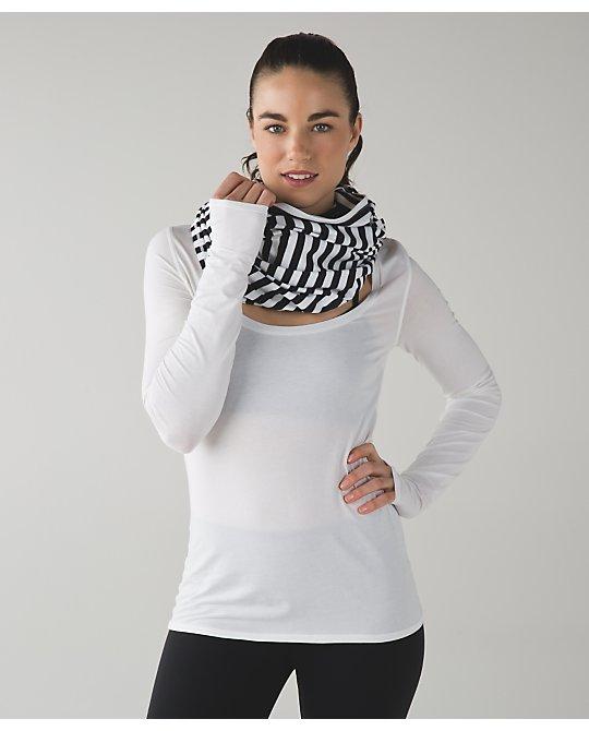 Lululemon apex stripe zip special edition vinyasa scarf