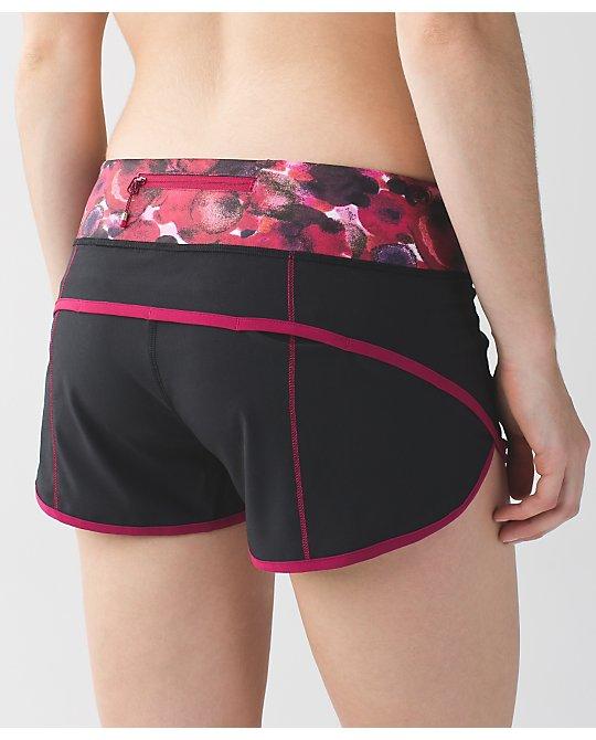 Lululemon black berry rumble trim speed shorts