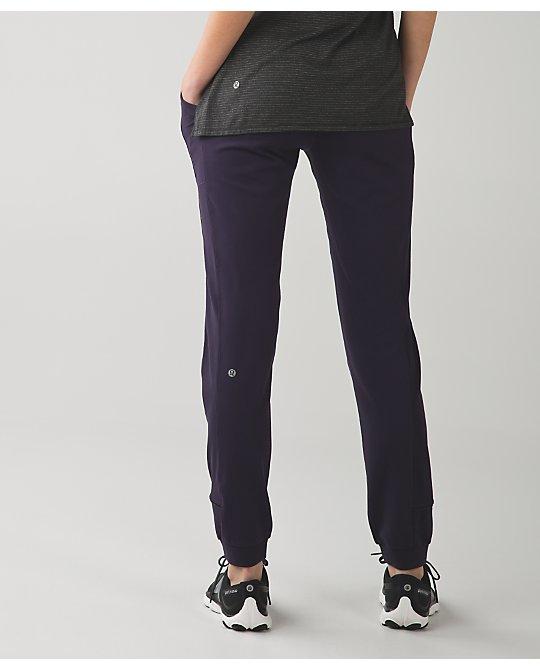 bc3f7732c Lululemon black grape base runner pants - Agent Athletica