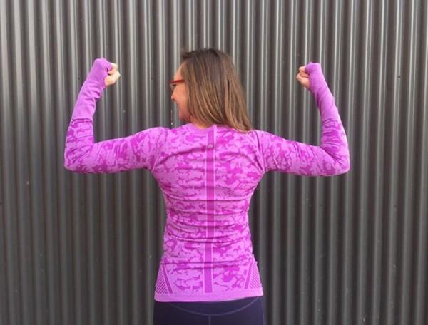 Lululemon raspberry glo print swiftly long sleeve