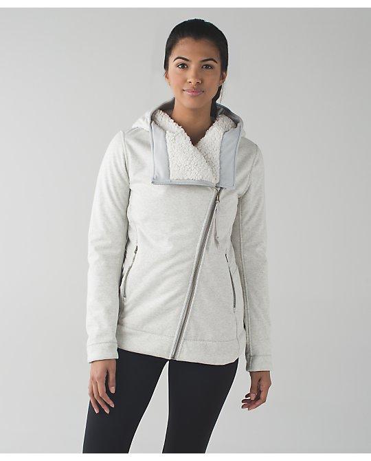 Lululemon silver spoon cozy up buttercup jacket