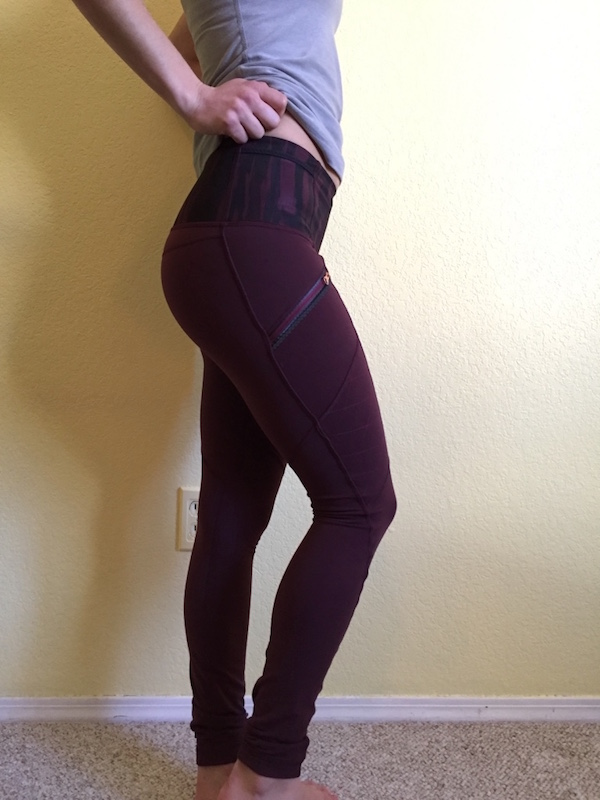 Lululemon toasty tech tights review bordeaux drama 1