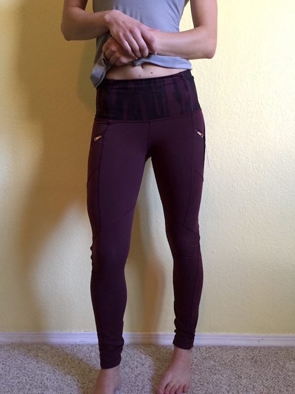 Lululemon toasty tech tights review bordeaux drama 5