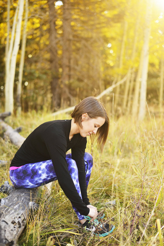 Vie Active and Sweaty Betty active fall outfit