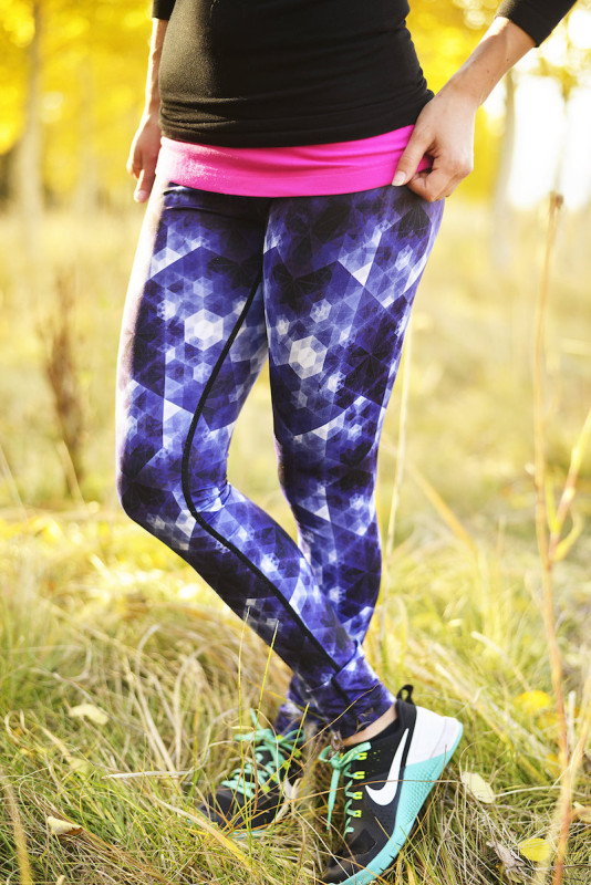 Vie Active satellite orchid blue rockell tights