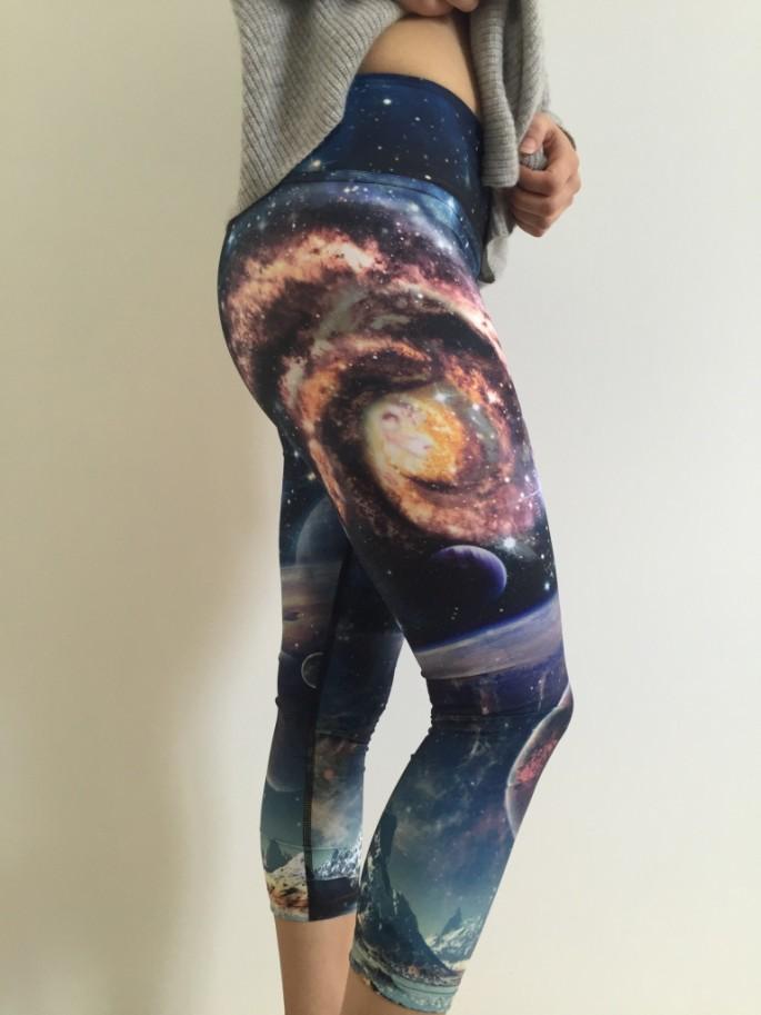 Ghost and Stars x Werkshop galaxy crop leggings