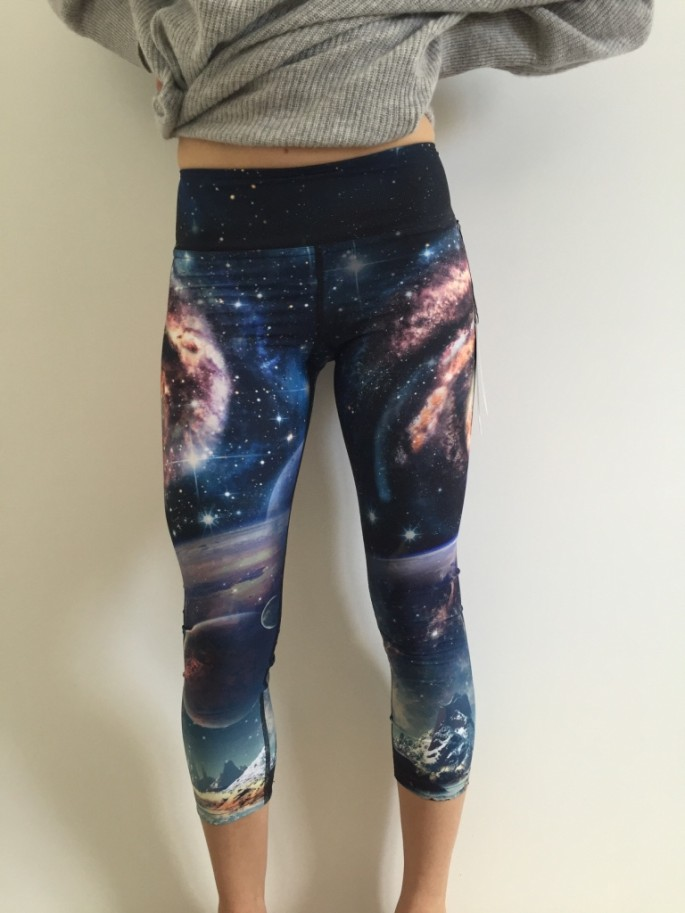 Ghost and Stars x Werkshop galaxy crop tights review