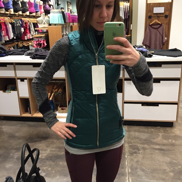 Fit Review: Lululemon Down for a Run Jacket and Vest - Agent