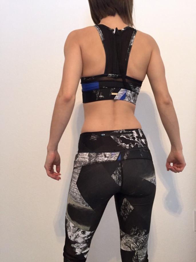 Alala blueprint zip it up bra captain tights