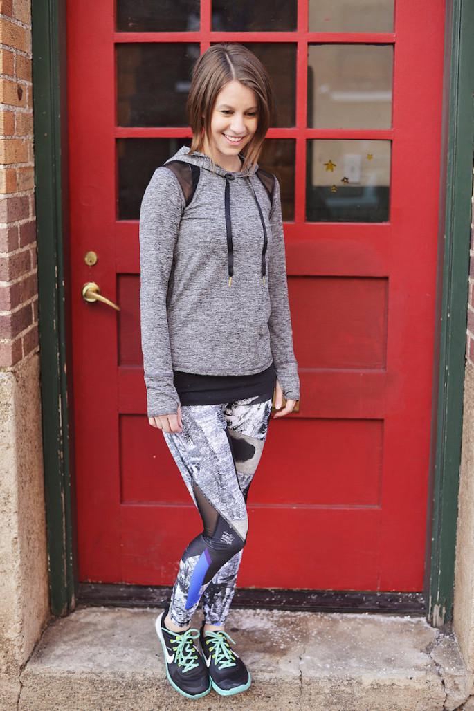 Alala flyweight hoodie with blueprint captain ankle tights