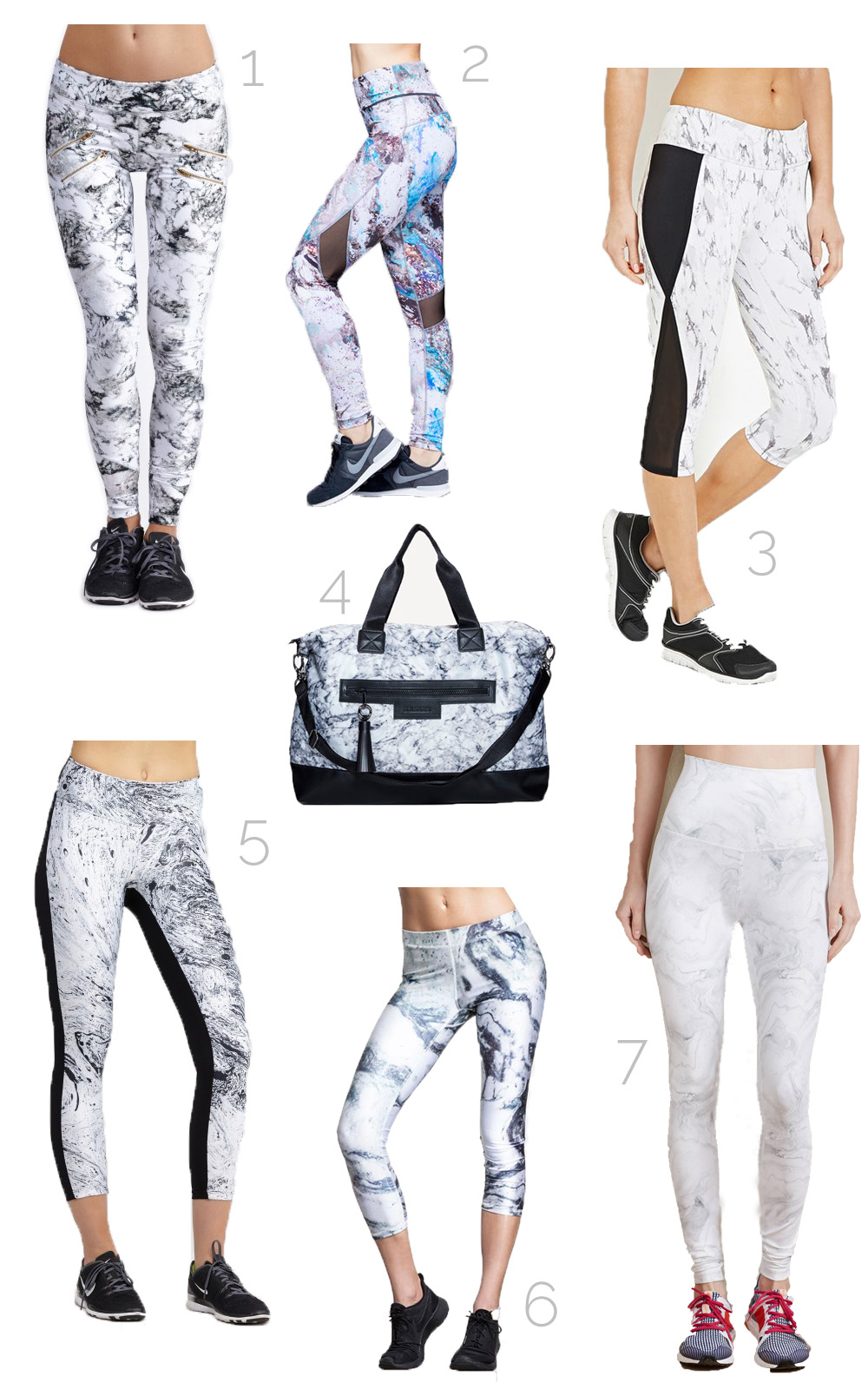 Fitness Fashion Trends Marble Activewear For Spring