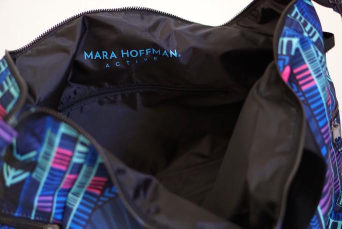 Mara Hoffman gym bag review - interior