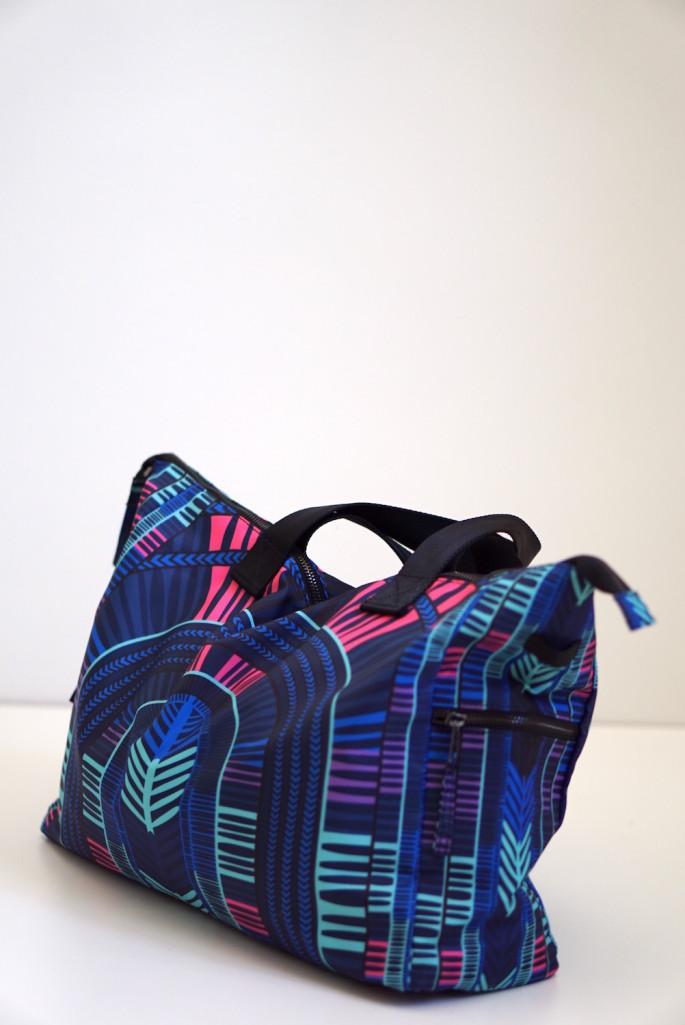 Mara Hoffman voyager blue gym bag review