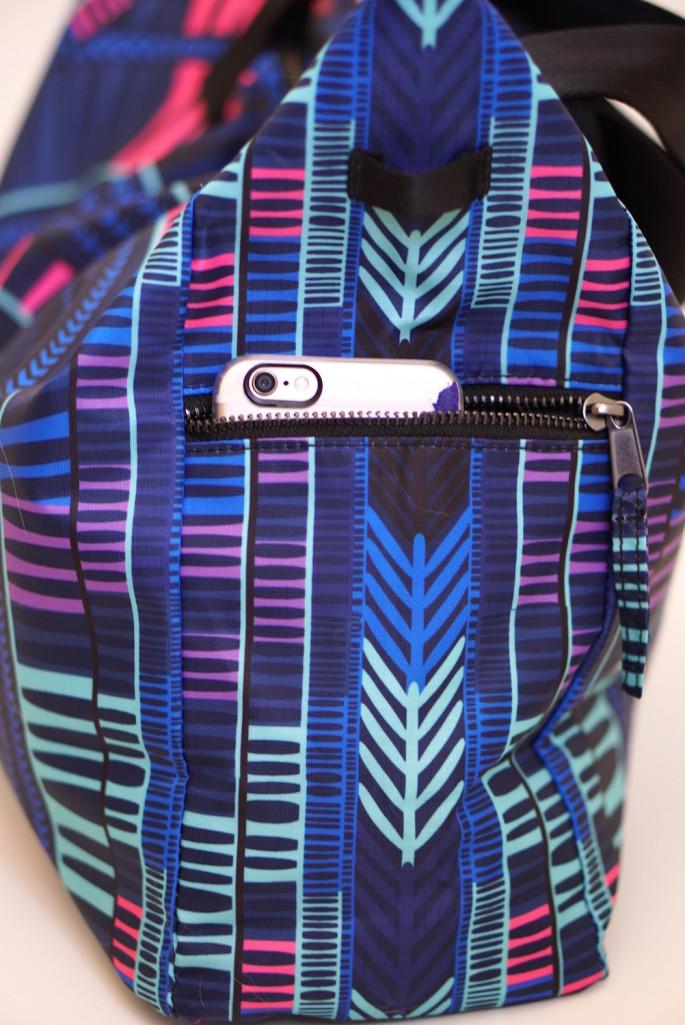 Mara Hoffman voyager blue gym bag review pockets