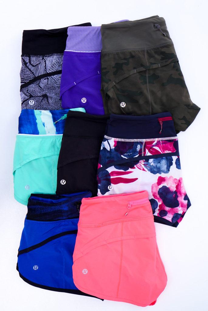 Four-way stretch lululemon speed shorts