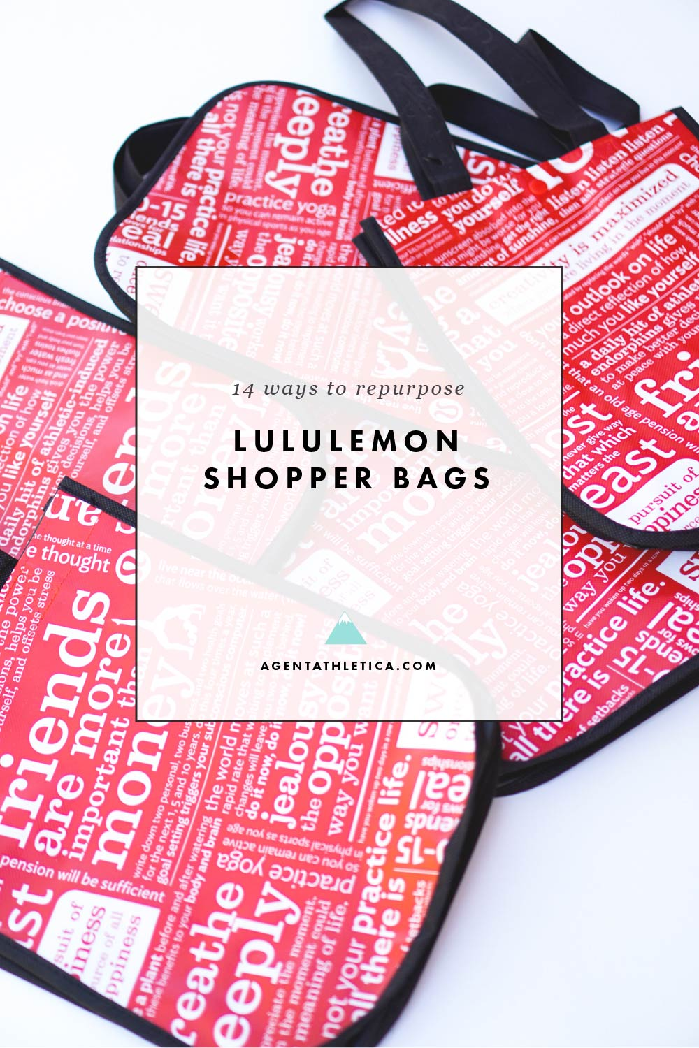 14 ways to repurpose your lululemon shopping bags