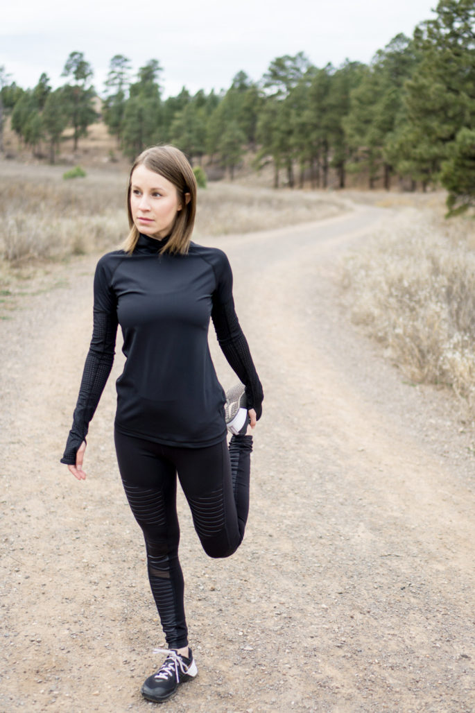 All black running outfit