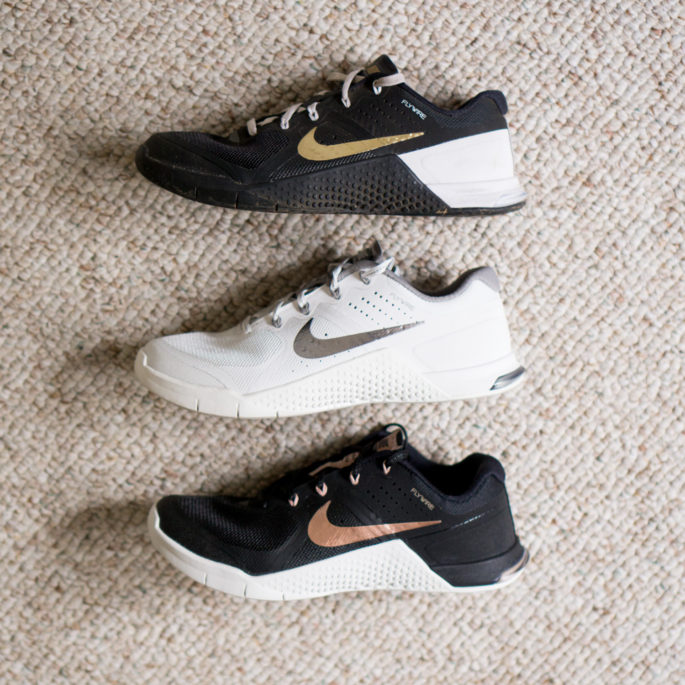 Obsessed with metallic Nikes