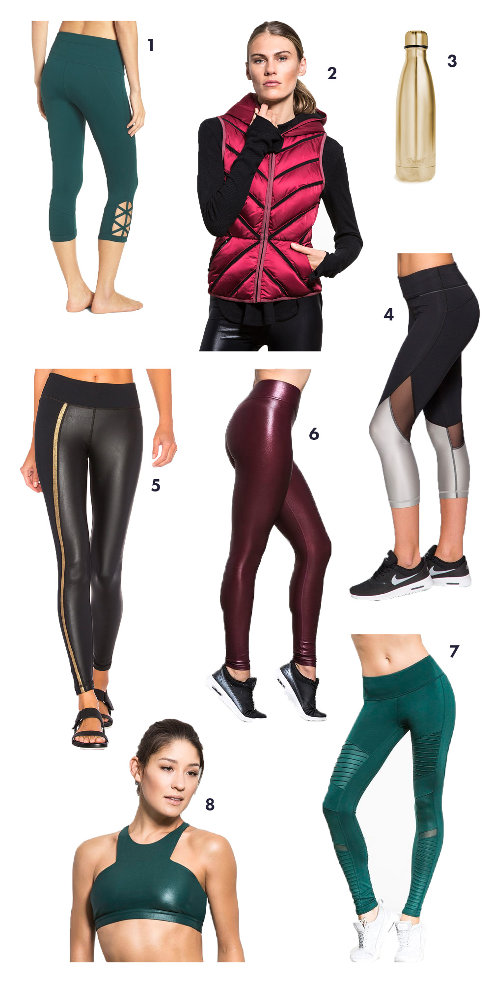 Workout gear with holiday cheer