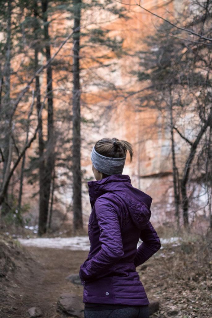 Lululemon winter hiking outfit
