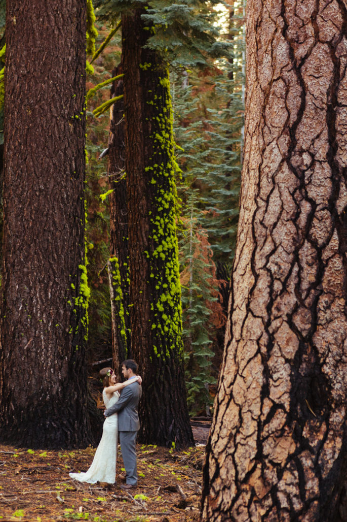 Yosemite elopement in the woods | Carl Zoch Photography