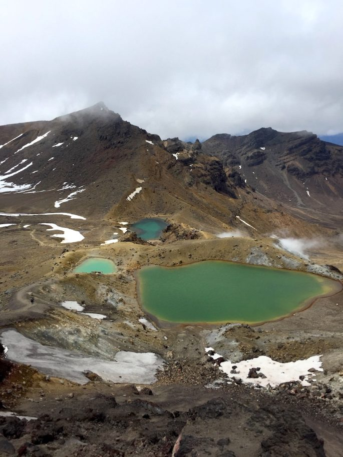 Tongariro alpine lakes