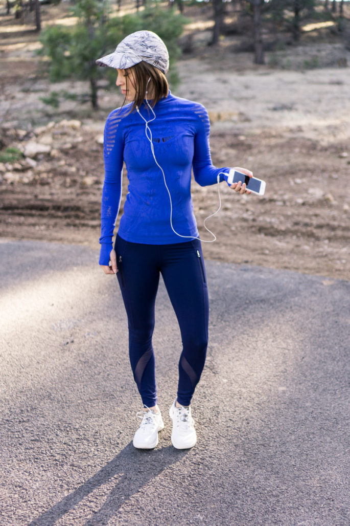 Sweaty Betty + lululemon running outfit for spring