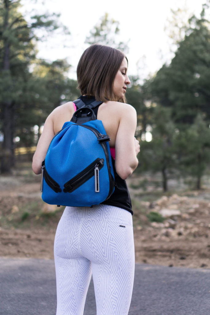 Bright blue athleisure backpack by Caraa Sport