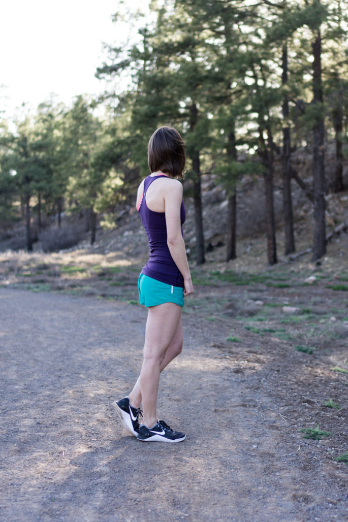 Colorful lululemon running outfit