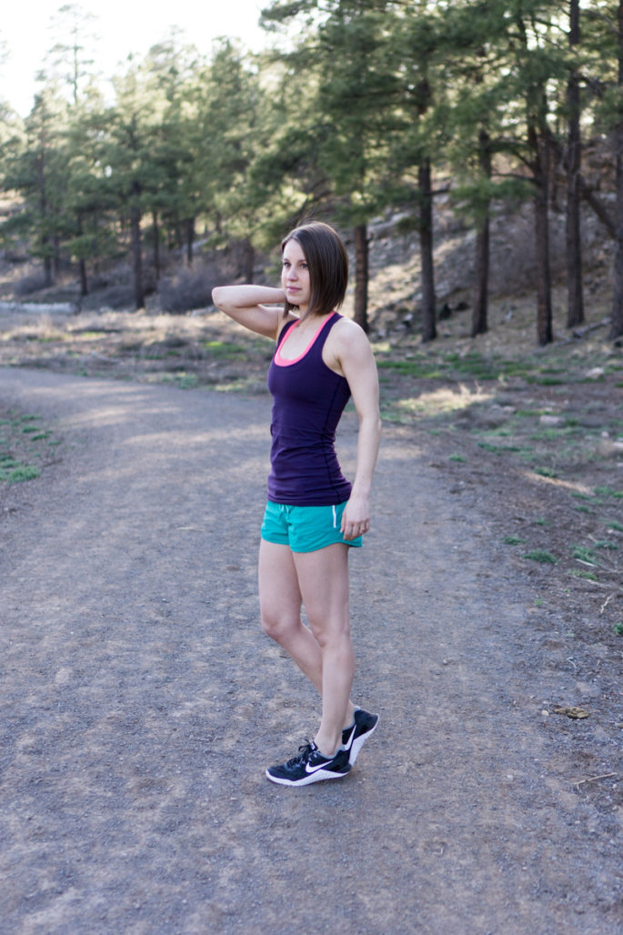 Colorful lululemon workout outfit