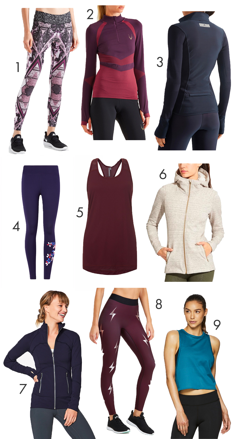 Stylish workout clothes new for the fall season