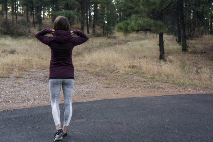 Athleta stronger hoodie | Lululemon leggings