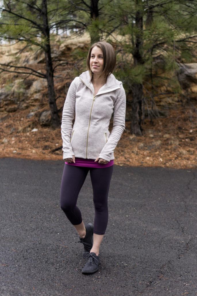 Athleta hoodie and lululemon align crops