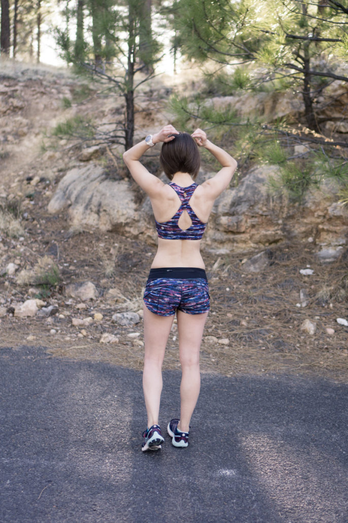 Lululemon matching running outfit