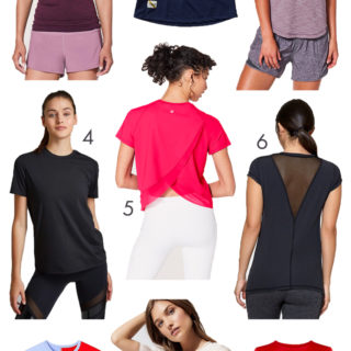 Short Sleeve Workout Tops for Summer Sun Protection