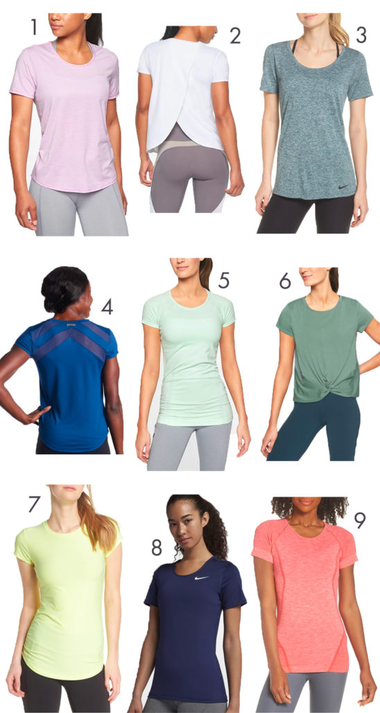 Short sleeve activewear to protect your shoulders from the sun!