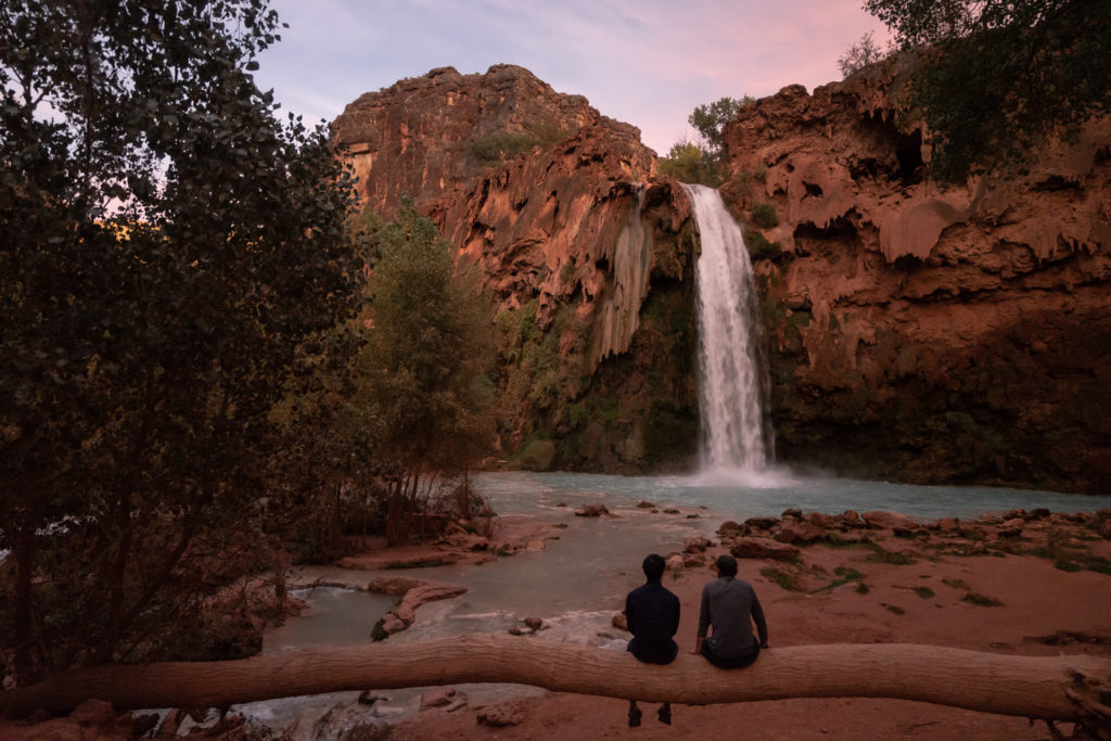 Fall sunset at Havasu Falls